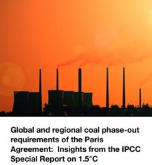 【Report】Global and regional coal phase-out requirements of the Paris Agreement: Insights from the IPCC Special Report on 1.5°C